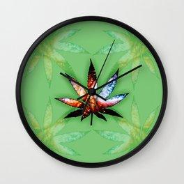 Marijuana Leaf - Design 1 Wall Clock