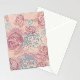 Antique Romantic Rose Pattern Stationery Cards