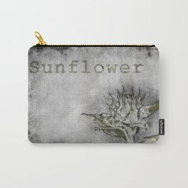 A botanical style illustration of a garden sunflower Carry-All Pouch