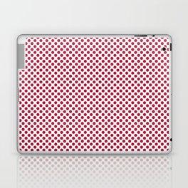 Lipstick Red Polka Dots Laptop & iPad Skin