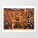 Indian King caravan with horses and elephant by askwebman