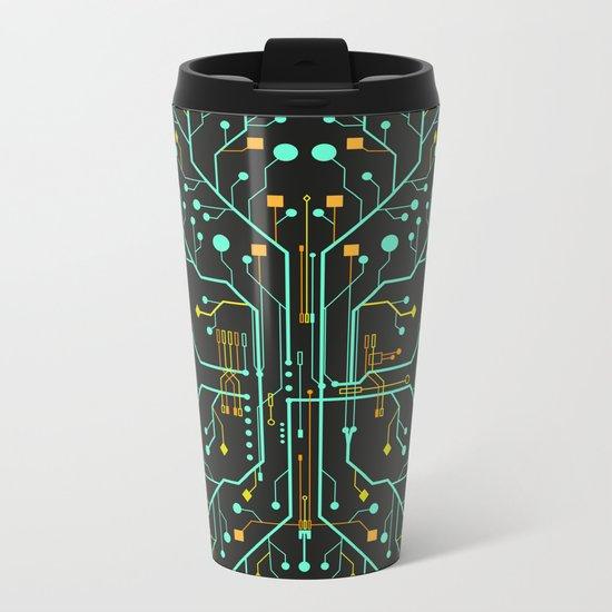 Brain Tech Metal Travel Mug