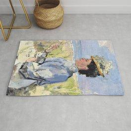Isaac Lazarus Israels - At The Beach - Portrait Of Martha Salomon - Digital Remastered Edition Rug
