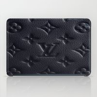 lv iPad Cases featuring Black LV by I Love Decor