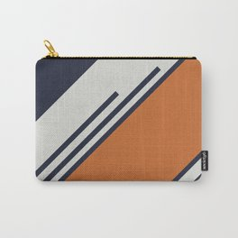 Retro Stripes in Blue Orange Carry-All Pouch
