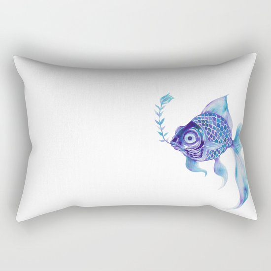 Baby Blue #5 Rectangular Pillow