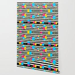 Colorful cubes 80's Wallpaper