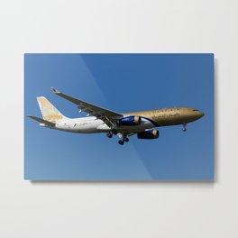 Gulf Air Airbus A330 Metal Print