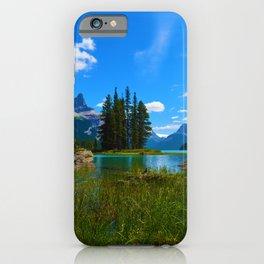 Spirit Island on Maligne Lake, Jasper National Park iPhone Case