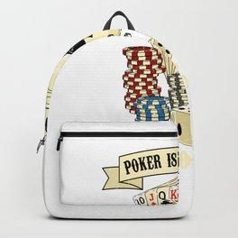 Poker Card Player Texas Holdem Poker Face Backpack