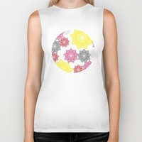 floral pattern Biker Tanks featuring Floral Pattern by C Designz