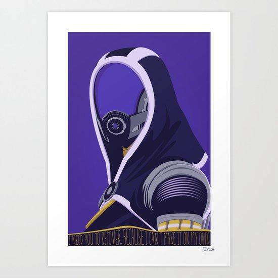 spectr.es: Tali'Zorah vas Normandy Art Print