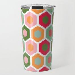 ikat honeycomb tutti fruit #homedecor Travel Mug