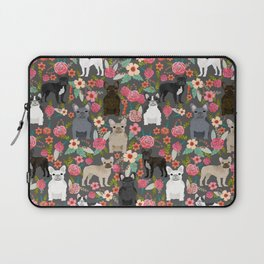 French Bulldog must have florals gifts dog breed pet lover frenchies forever Laptop Sleeve