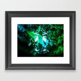 Broken Gradient Framed Art Print