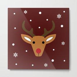 Rudolph the reindeer Metal Print