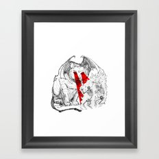 Lethal Optical Lasers Cat Framed Art Print