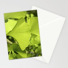 green ginkgo leaf VII Stationery Cards