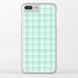 Winter Plaid 7 Clear iPhone Case