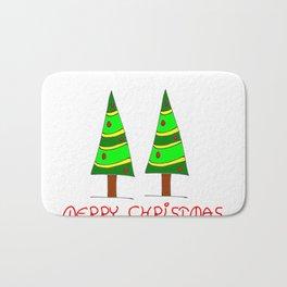 Christmas tree-pine,Yule-tree,Christmas,garlands,baubles,tinsel,evergreen,Star of Bethlehem, family Bath Mat