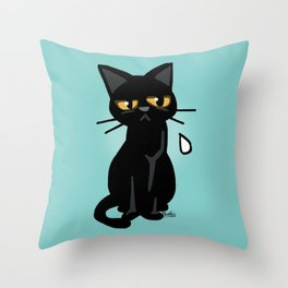 He is disappointed Throw Pillow