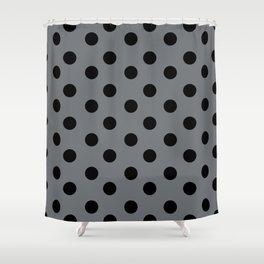Grey & Black Polka Dots Shower Curtain