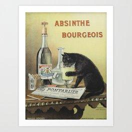 Vintage poster - Absinthe Bourgeois Art Print