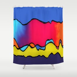 CALIFORNIA WAVE Shower Curtain