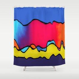 CALIFORNIA WAVE Shower Curtain