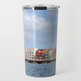 Colorful Houses of Willemstad, Curacao Travel Mug
