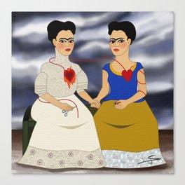 Frida Kahlo - Ladies Fridas Canvas Print