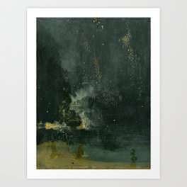 James Abbott McNeill Whistler Nocturne In Black And Gold Art Print