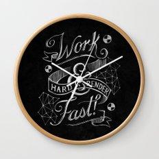 Work Hard & Render Fast! Wall Clock