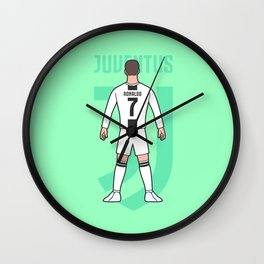 Cristiano arrives in Turin Wall Clock