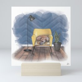 Home is Where Your Dog is Mini Art Print