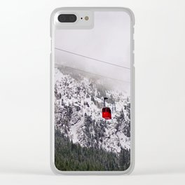 Up to the mountains Clear iPhone Case