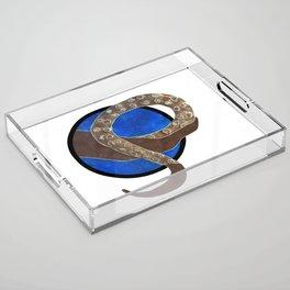 Creature of Water (porthole edit) Acrylic Tray