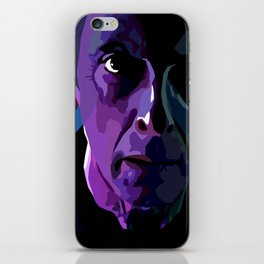 The face of Who iPhone Skin