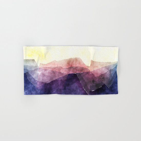 In the sea- abstract watercolor - triangle pattern Hand & Bath Towel