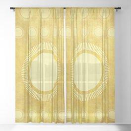 """Gold & Yellow Ethnic Sun Mandala"" Sheer Curtain"