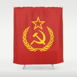 Communist Cold War Flag Shower Curtain