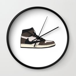 Jordan 1 Retro High Cactus Jack Wall Clock