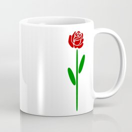 Single Long Stemmed Red Rose Coffee Mug