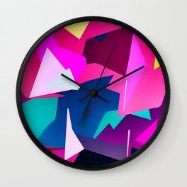 Rio Carnival, colorful party Wall Clock