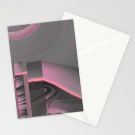 Claraboya, Geodesic Habitacle, Pink neon room Stationery Cards