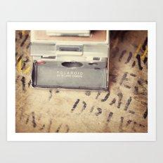 VIntage Polaroid SX-70 Art Print