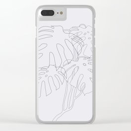 Monstera Illustration Clear iPhone Case