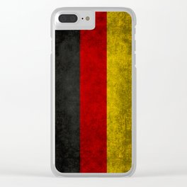 German National flag, Vintage retro patina Clear iPhone Case