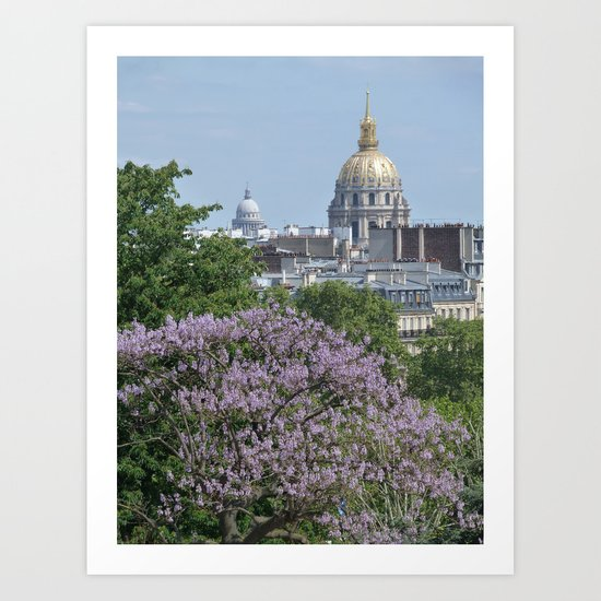 Domes de Paris Art Print