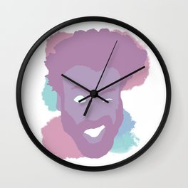 Childish Gambino Pastel Face Wall Clock